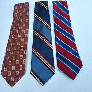 Jos. A. Bank and Robert Talbott bundle of 3 ties